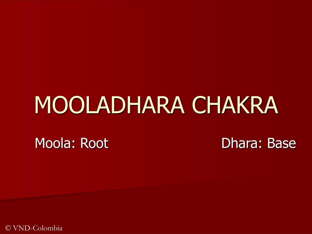 mooladhara chakra l.