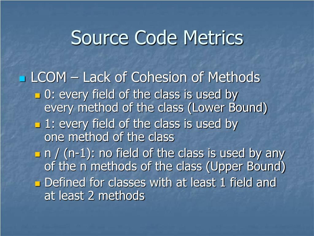Source Code Metrics