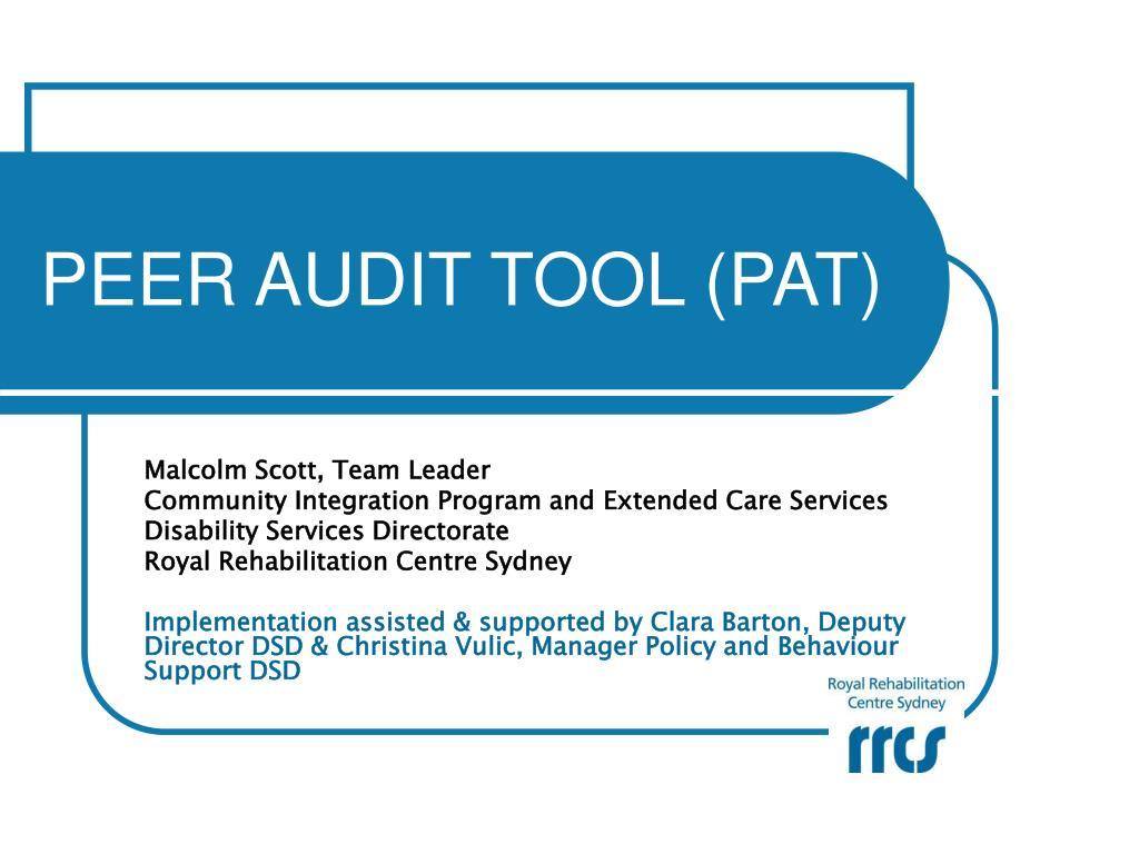 peer audit tool pat