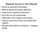 objects found in the mandir