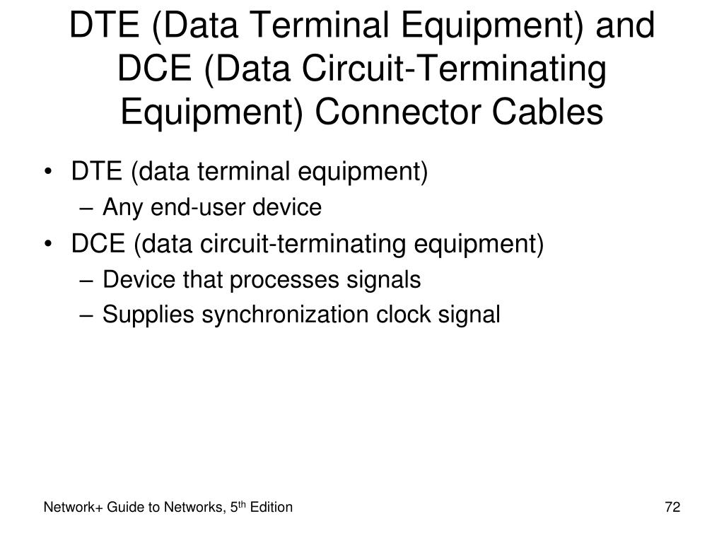 DTE (Data Terminal Equipment) and DCE (Data Circuit-Terminating Equipment) Connector Cables