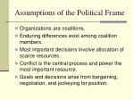 assumptions of the political frame