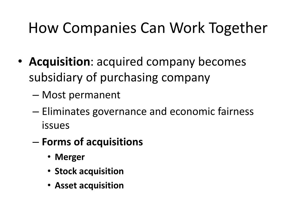 How Companies Can Work Together