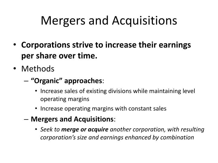 Mergers and acquisitions2