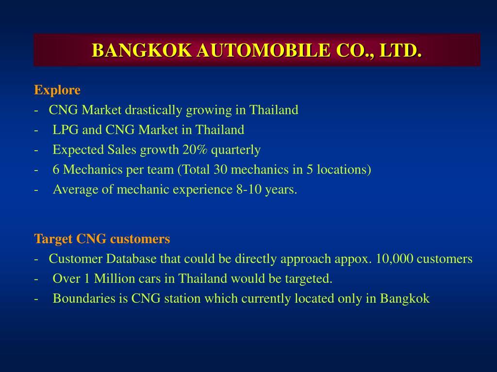 BANGKOK AUTOMOBILE CO., LTD.