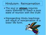 hinduism reincarnation