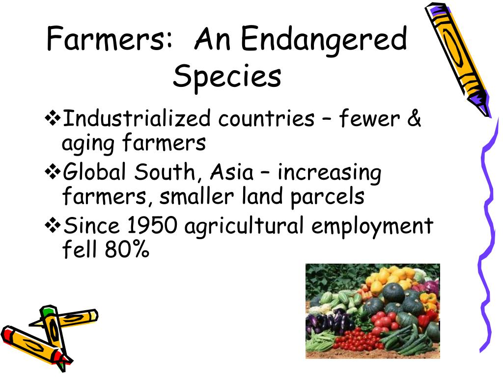 Farmers:  An Endangered Species