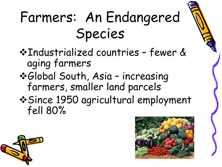 Farmers an endangered species