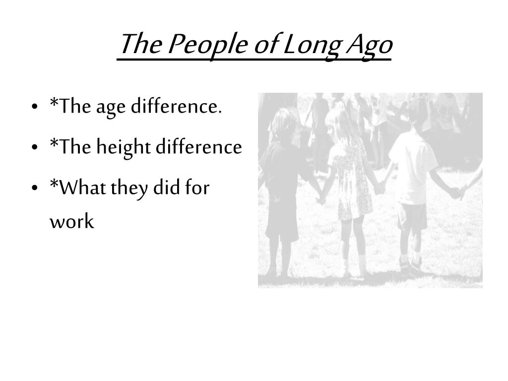The People of Long Ago