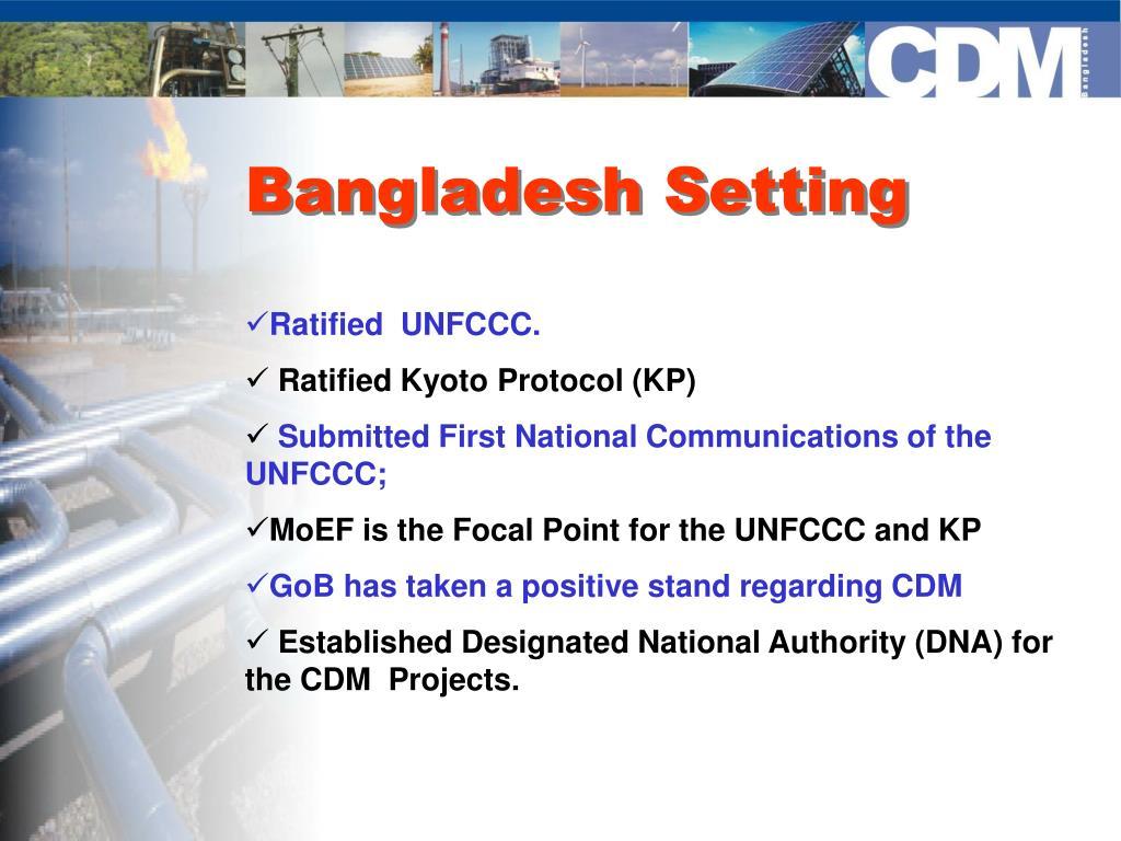 Bangladesh Setting