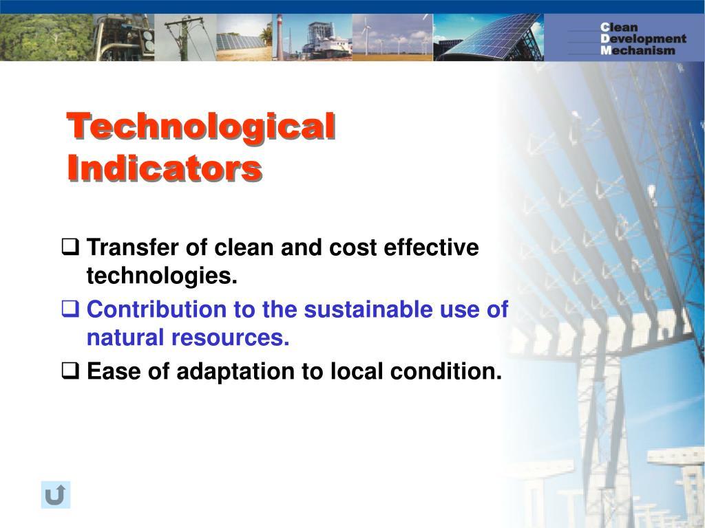 Technological Indicators