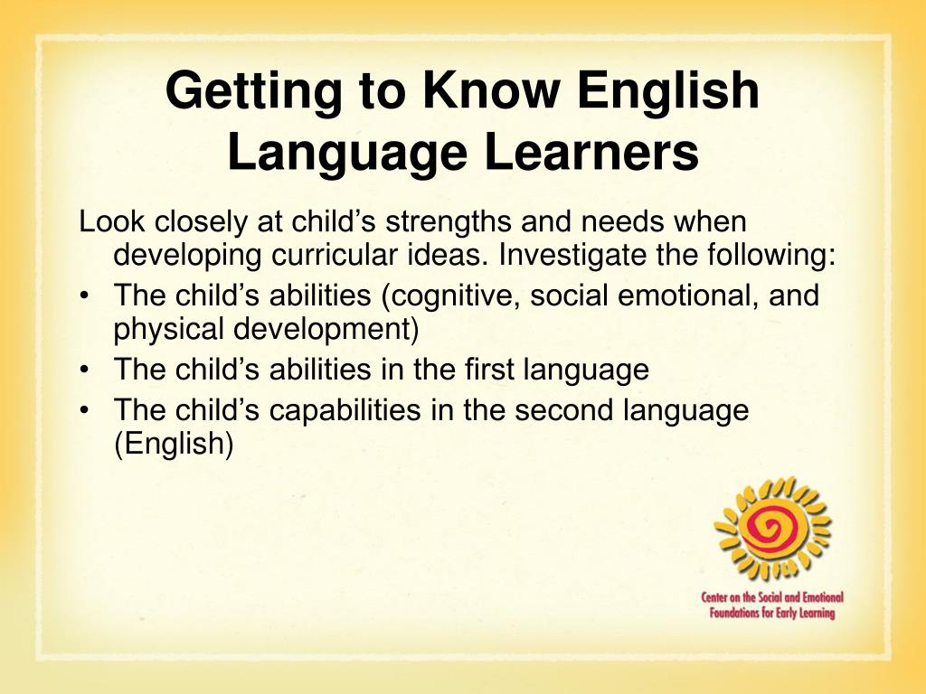 Getting to Know English