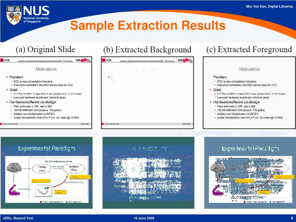 Sample Extraction Results