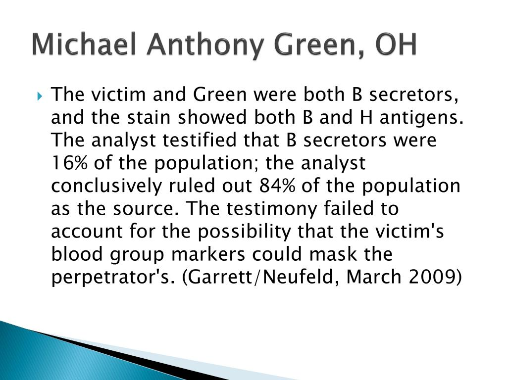 Michael Anthony Green, OH