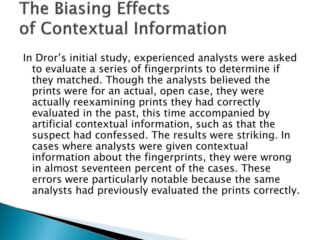 The Biasing Effects