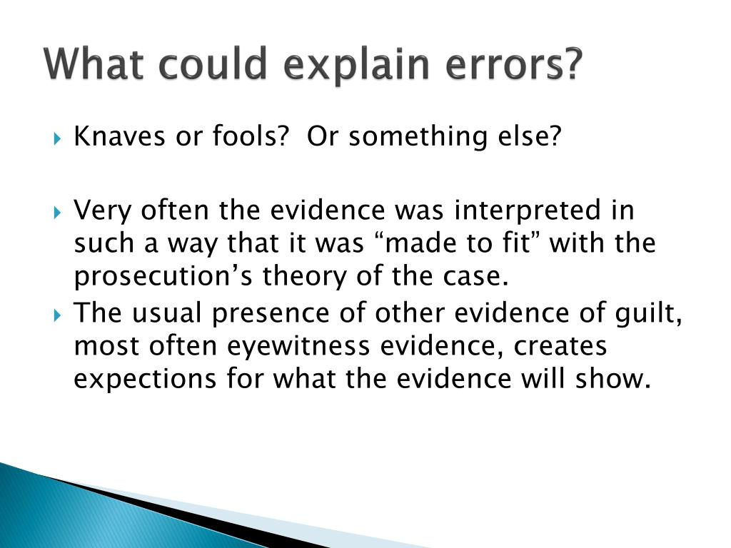 What could explain errors?