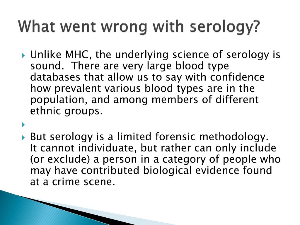 What went wrong with serology?