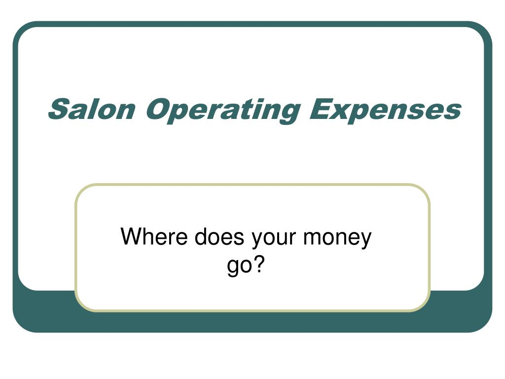 salon operating expenses l.