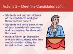 activity 2 meet the candidates cont