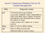 issue 3 dispersion modeling tool for air quality management