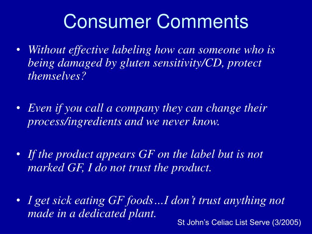 Consumer Comments