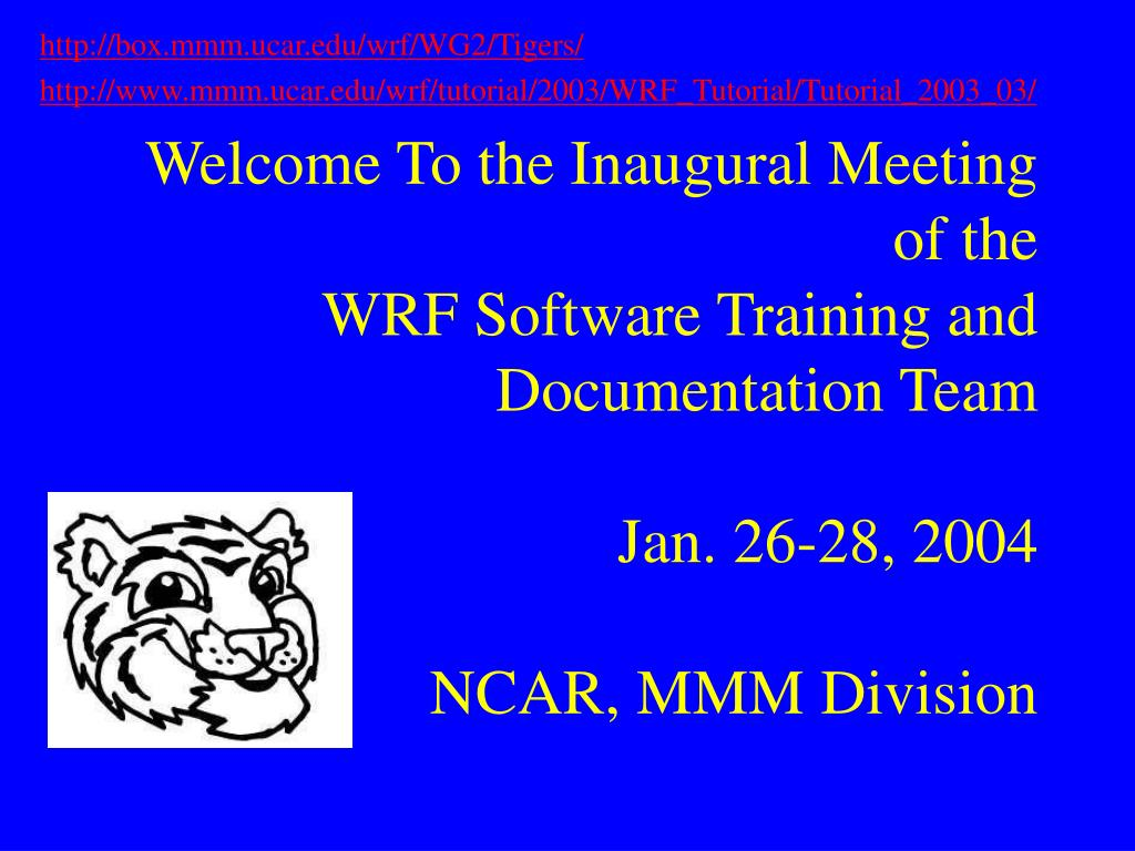 PPT - HWRF: AN INTRODUCTION TO THE NMM-WRF MODELING SYSTEM