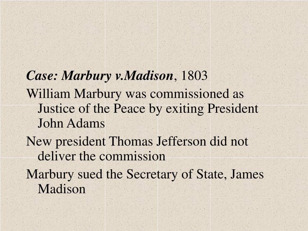 Case: Marbury v.Madison