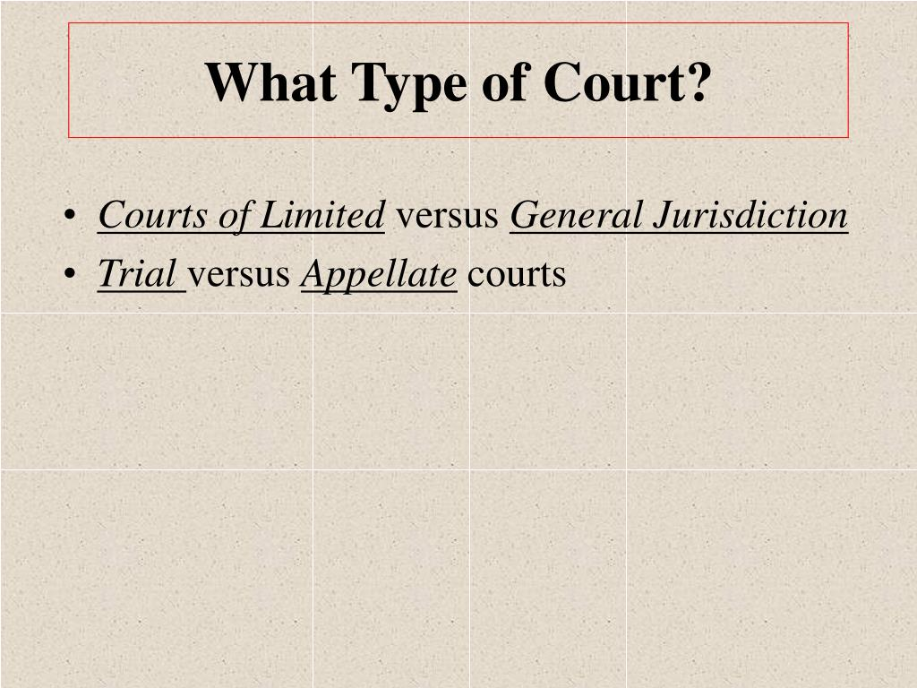 What Type of Court?