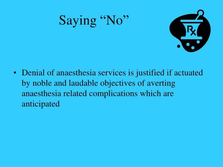 Saying no3