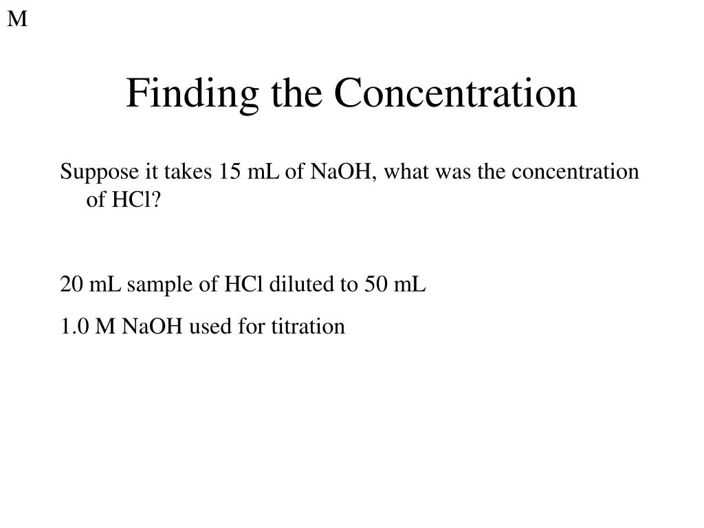 PPT - Intersection 13: Acid/Base Titration ...