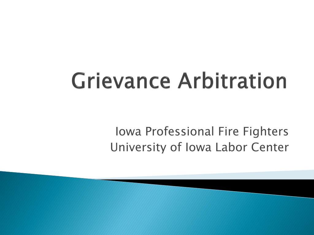 grievance arbitration l.
