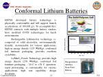 conformal lithium batteries