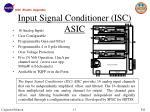 input signal conditioner isc asic