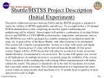 shuttle hstss project description initial experiment