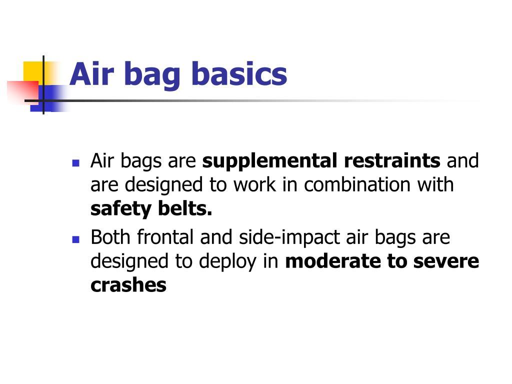 Air bag basics