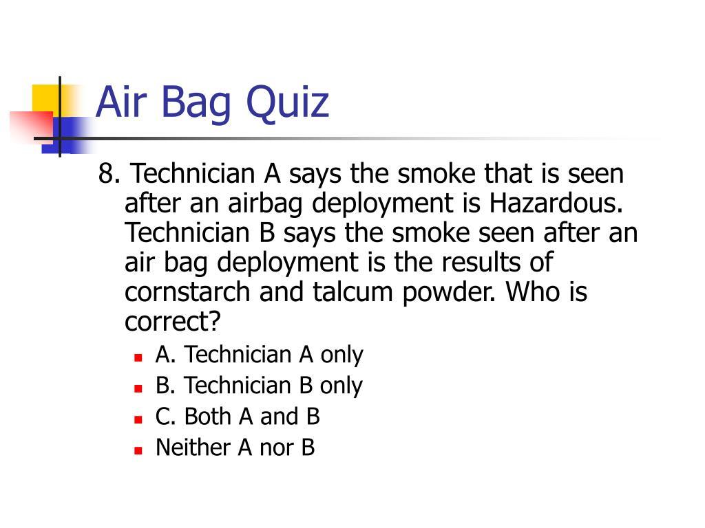 Air Bag Quiz