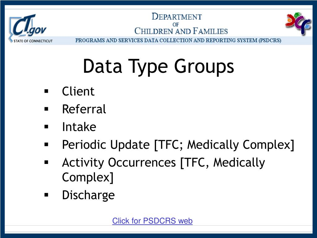 Data Type Groups