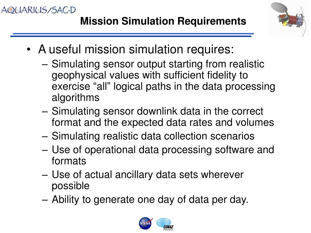 Mission Simulation Requirements