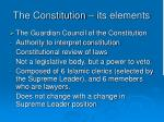 the constitution its elements3