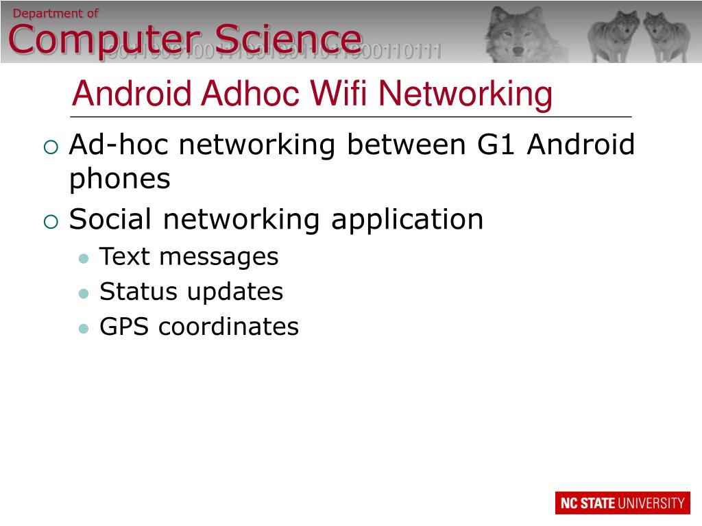 android adhoc wifi networking