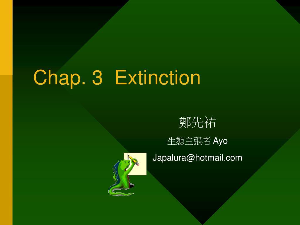 chap 3 extinction l.