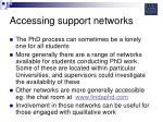 accessing support networks