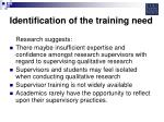 identification of the training need