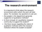 the research environment