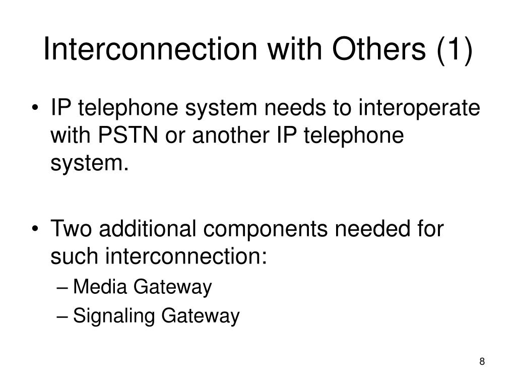 Interconnection with Others (1)