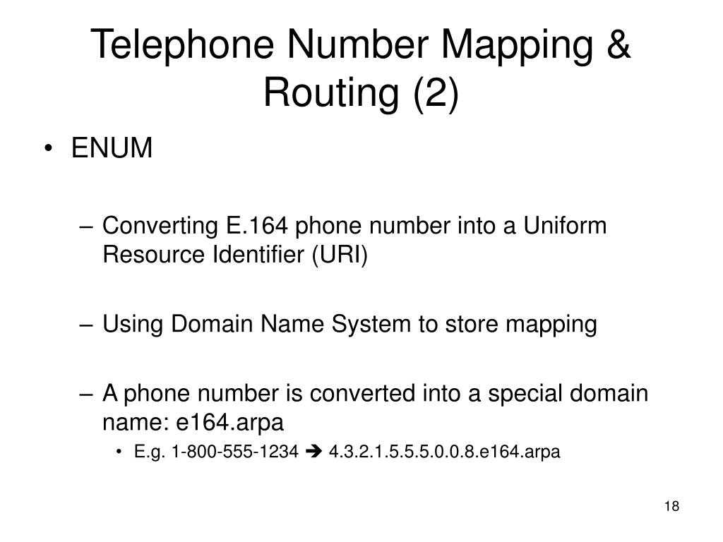 Telephone Number Mapping & Routing (2)