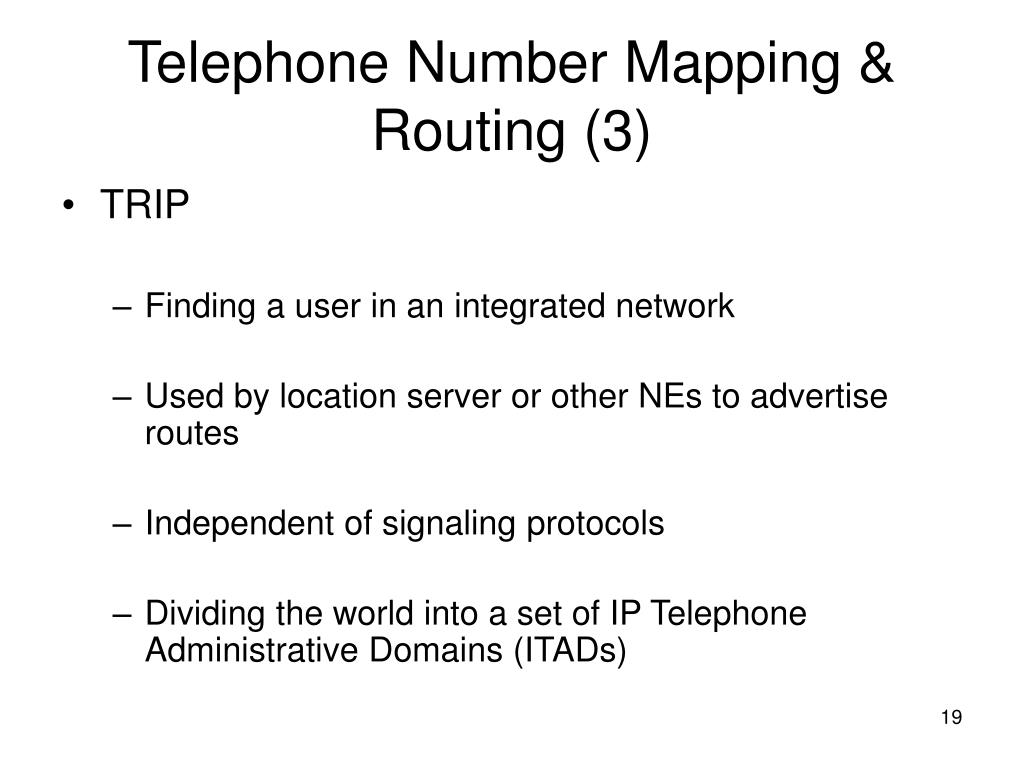 Telephone Number Mapping & Routing (3)