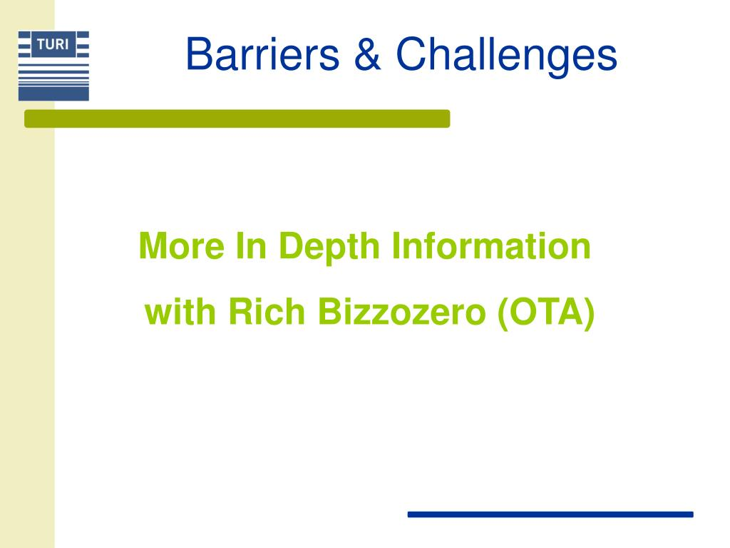 Barriers & Challenges
