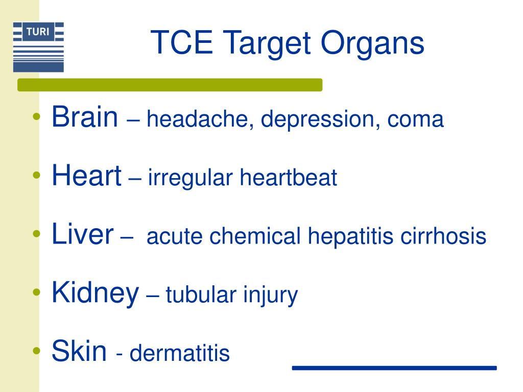 TCE Target Organs