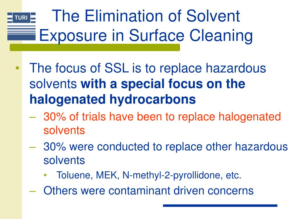 The Elimination of Solvent